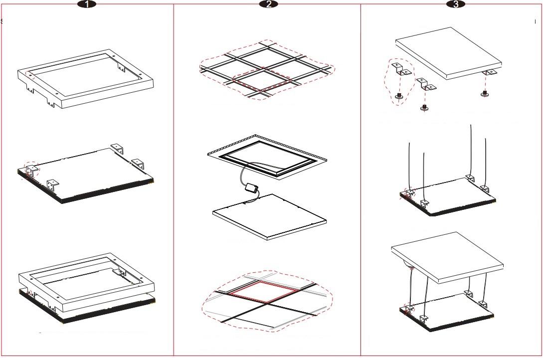 Installation cadre alu pour dalle led